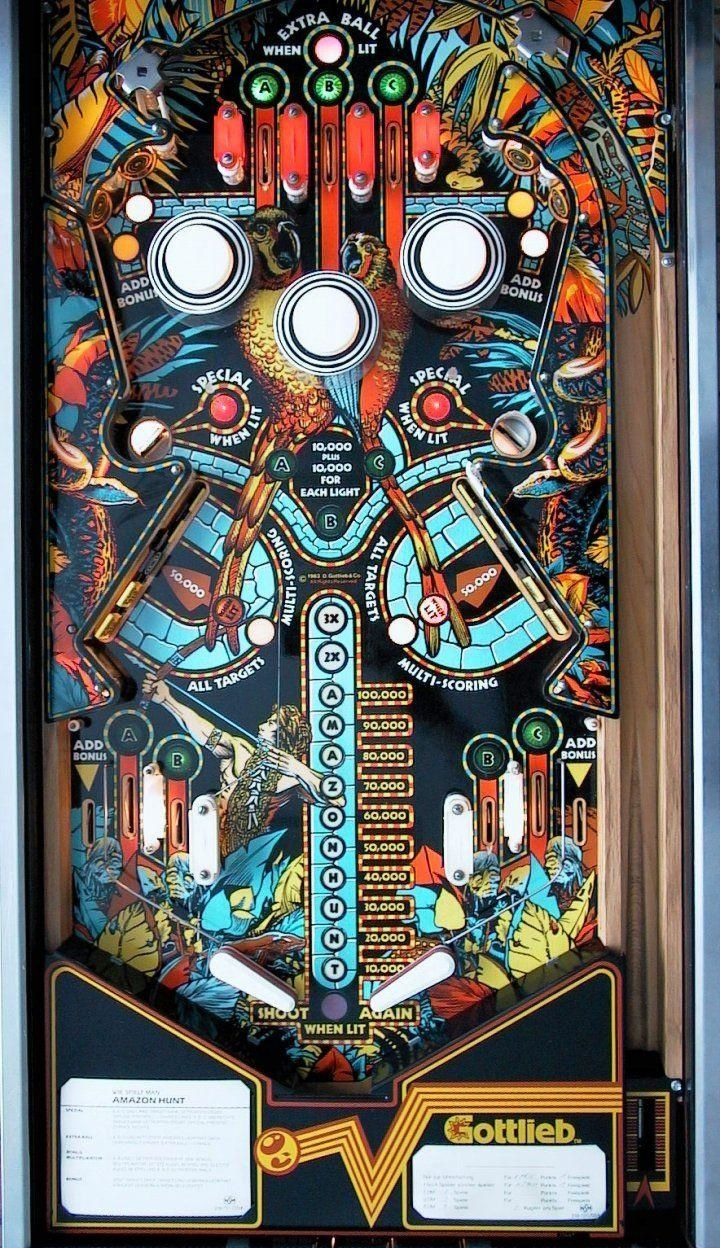 Image result for gottlieb amazon hunt pinball machine
