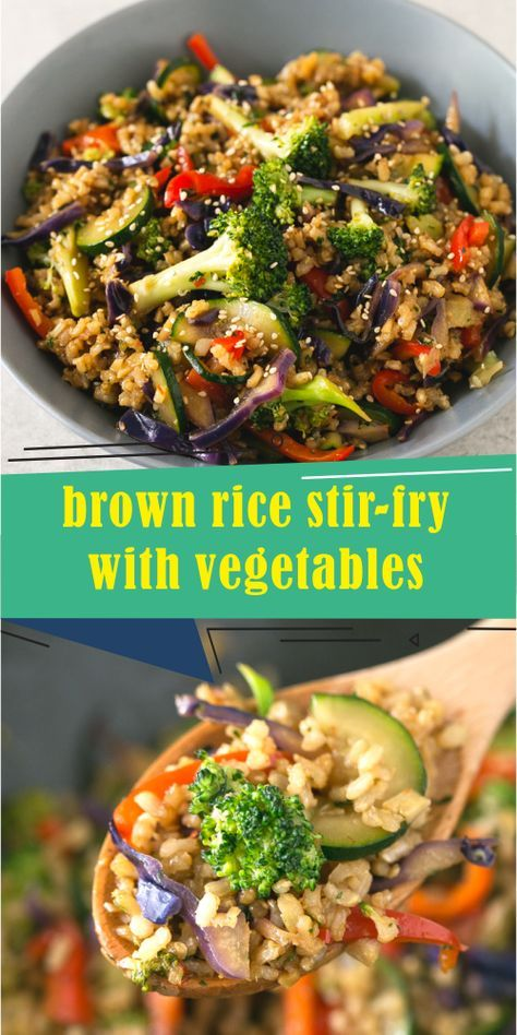 Photo of brown rice stir-fry with vegetables – Best easy cooking – Best easy cooking