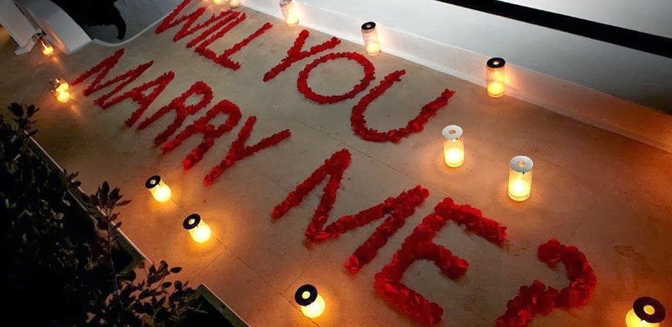 15 Proposal Ideas We All Can Do | Wedding, Rose petals and ...