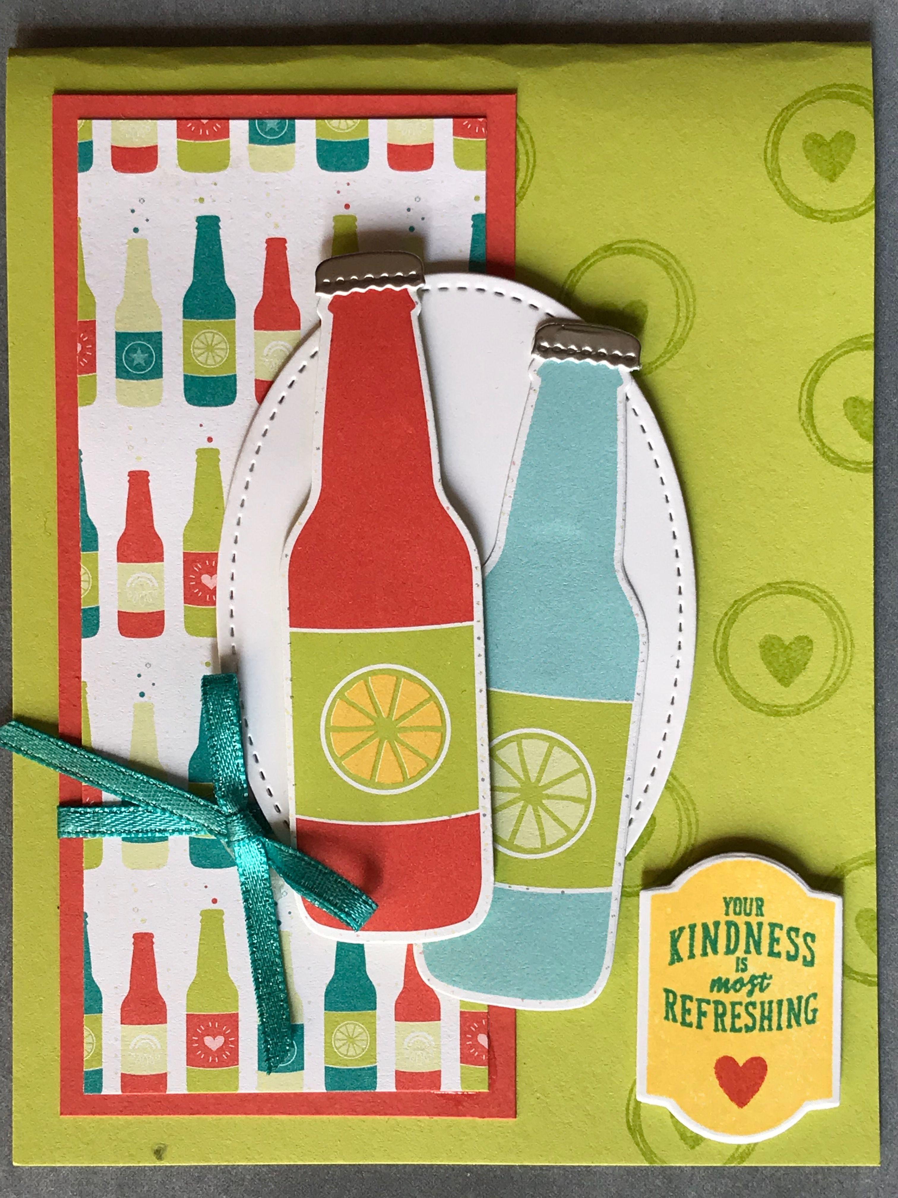Открытка для бутылки, днем рождения