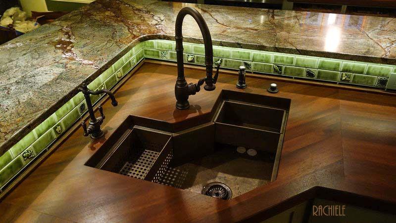 More Ideas Below Kitchenideas Kitchensink Copper Corner Kitchen Sink Layout Ideas Undermount Corne Corner Sink Kitchen Corner Sink Kitchen Sink Organization