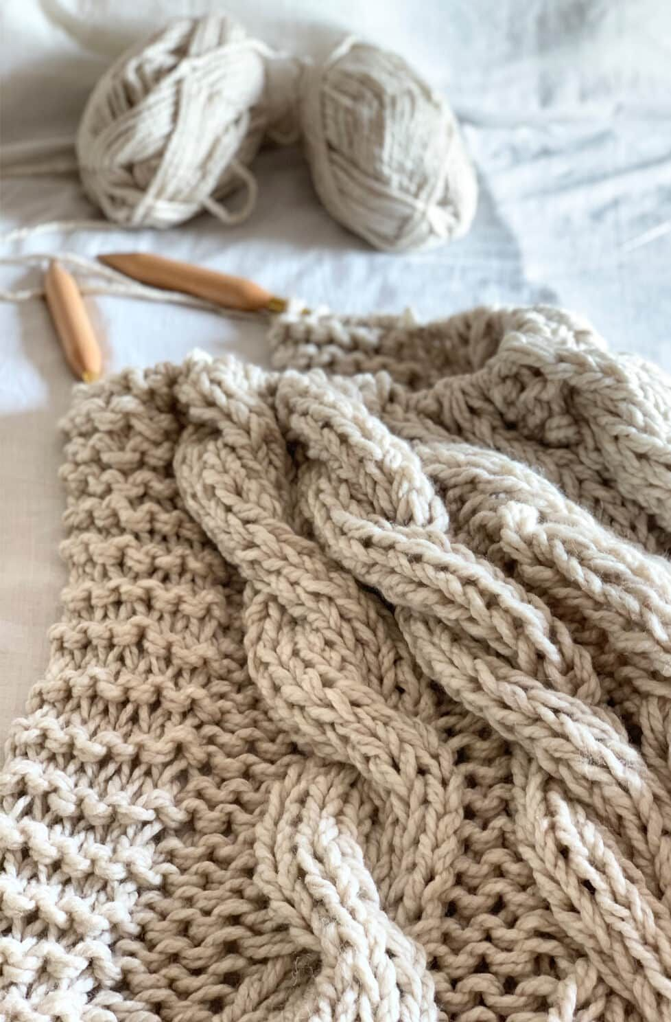 Chunky Cable Knit Blanket Pattern Blanket knitting