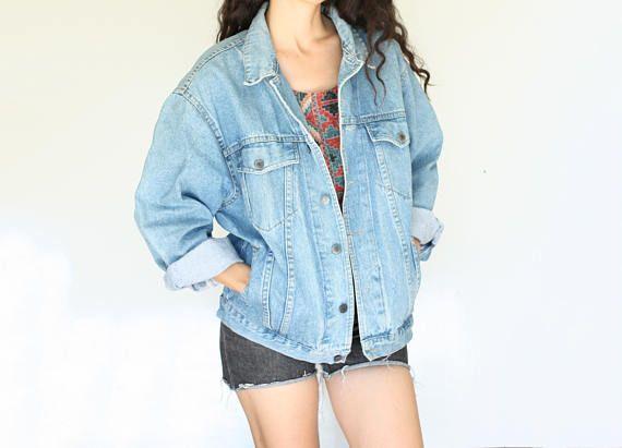 Vintage 90s Light Wash Denim Jacket By Body Blue