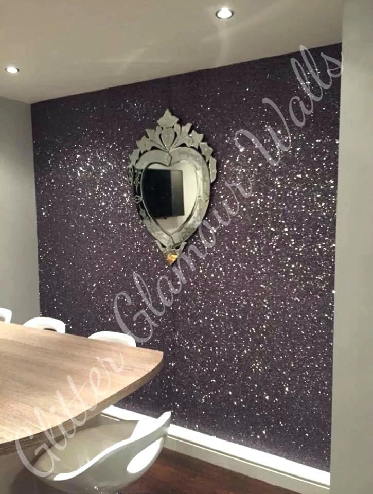 Silver Glitter Wallpaper Bedroom Gunmetal Feature Wall In ...