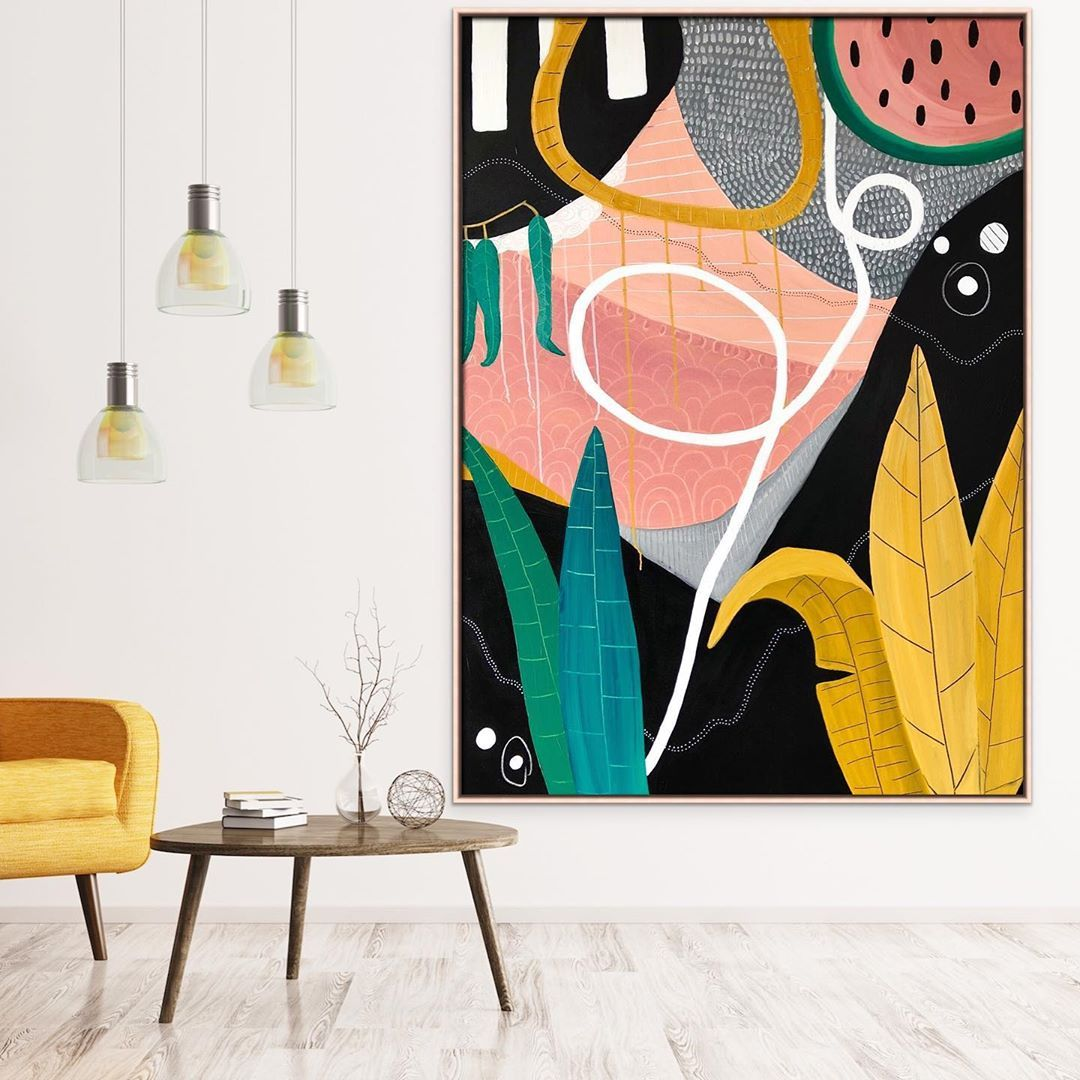 Lizzie Alsop Art Australia On Instagram I M Manifesting Tropical Beach Days Here Mid Contemporary Art Canvas Canvas Painting Patterns Tropical Art Print