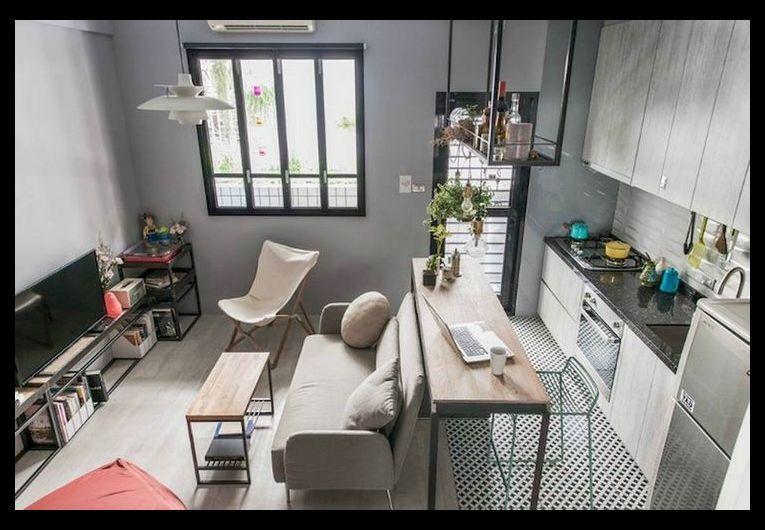 32 Stunning Apartment Studio Space Saving Organization Decor Ideas Apartment Decorating Rental Small Apartment Decorating Small Studio Apartment Decorating