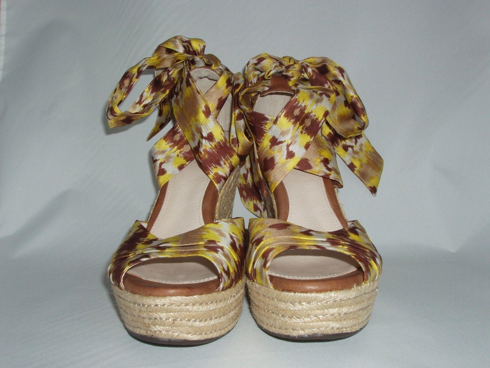 Ugg Australia Lucianna Lemon Strappy Platform Wedge Sandals Size 8.5B