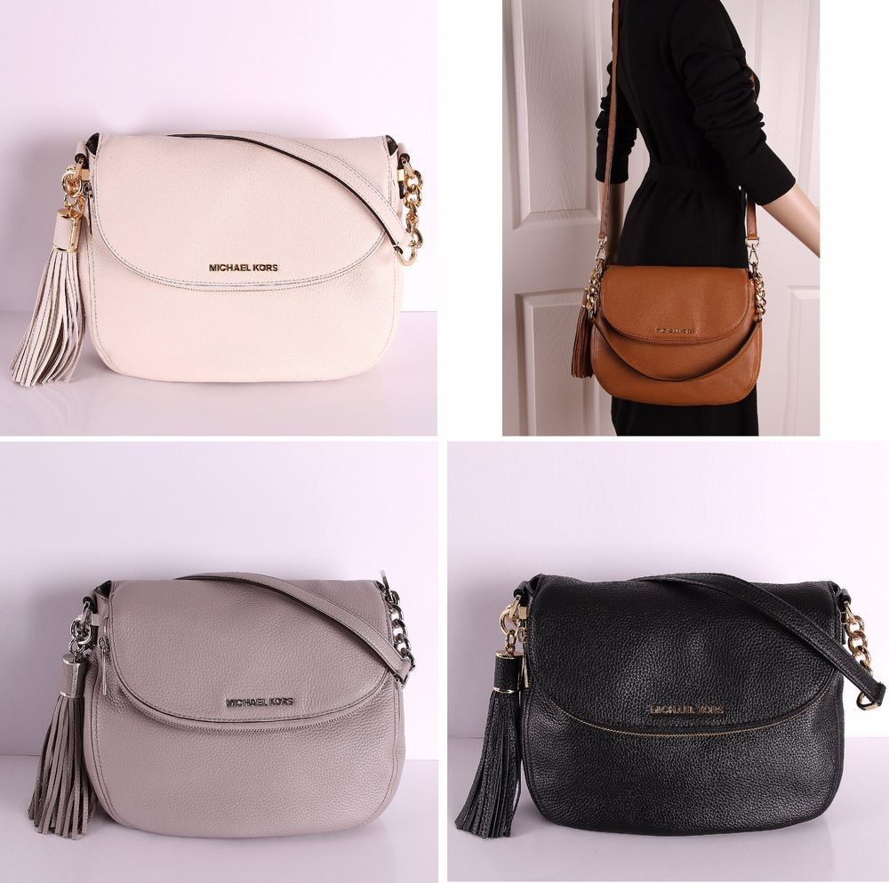 483dd34b9218 NWT Michael Kors Bedford Leather Medium Tassel Convertible Shoulder Bag # MichaelKors #ShoulderCrossbodyBag