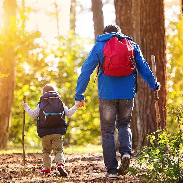 #Father and #son #walking during the #hiking activities in #autumn #forest at #sunset http://kozzi.tv/SBhEl