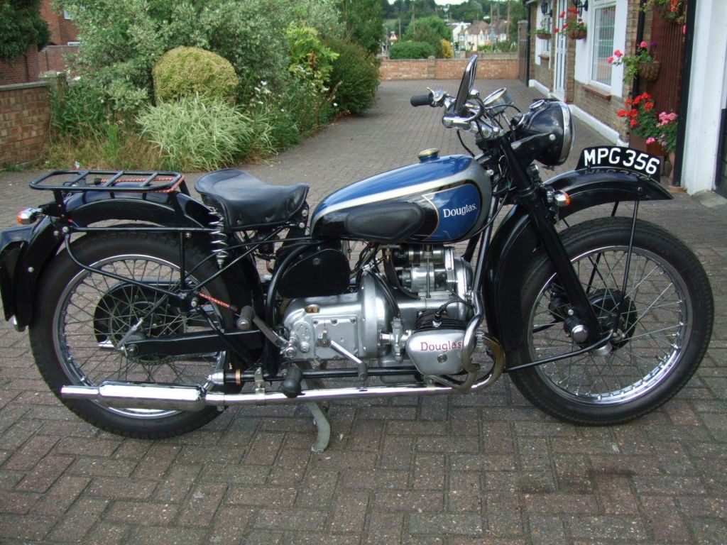 1948 Douglas 350cc Mk1 T35 Vintage Motorcycle Posters Classic Bikes Old Motorcycles