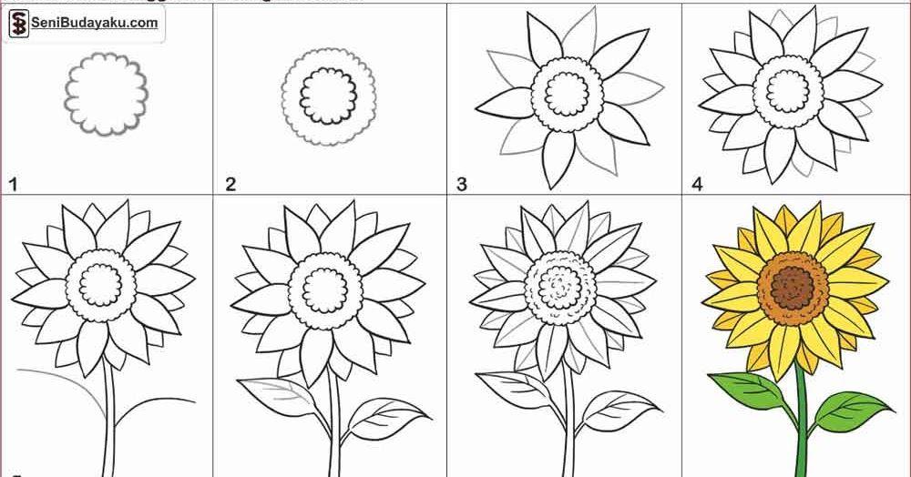 Wow 26 Gambar Bunga Yang Mudah Dan Bagus 30 Gambar Sketsa Bunga Mudah Bunga Matahari Mawar Tulip 9 C Gambar Bunga Menggambar Bunga Matahari Menggambar Bunga
