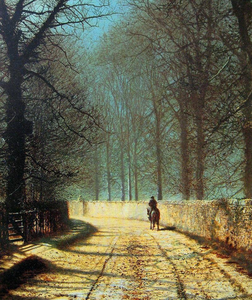 Grimshaw, John Atkinson (English, 1836-1893) - Rider on a Dirty Road