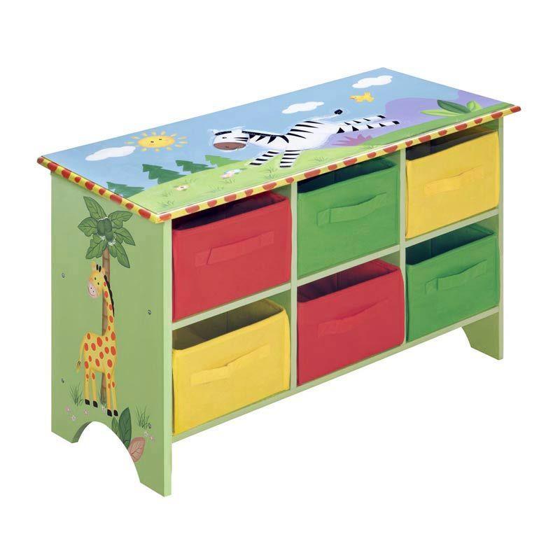 Kids Toy Storage Cabinet Jungle Fun | Kiddies | Pinterest ...