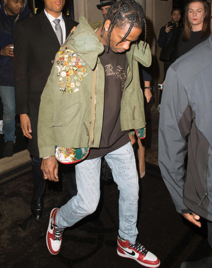 Travis Scott in Air Jordan 1 OG