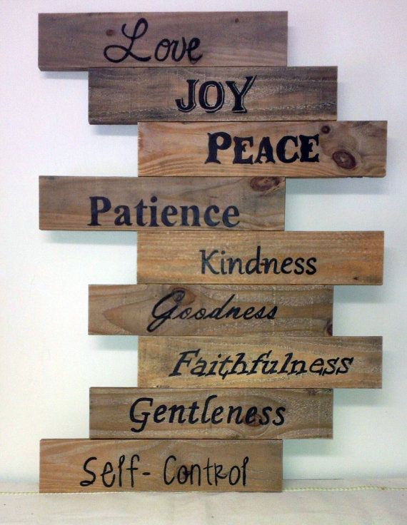 Paint The Word Gentleness On Pallet Wood
