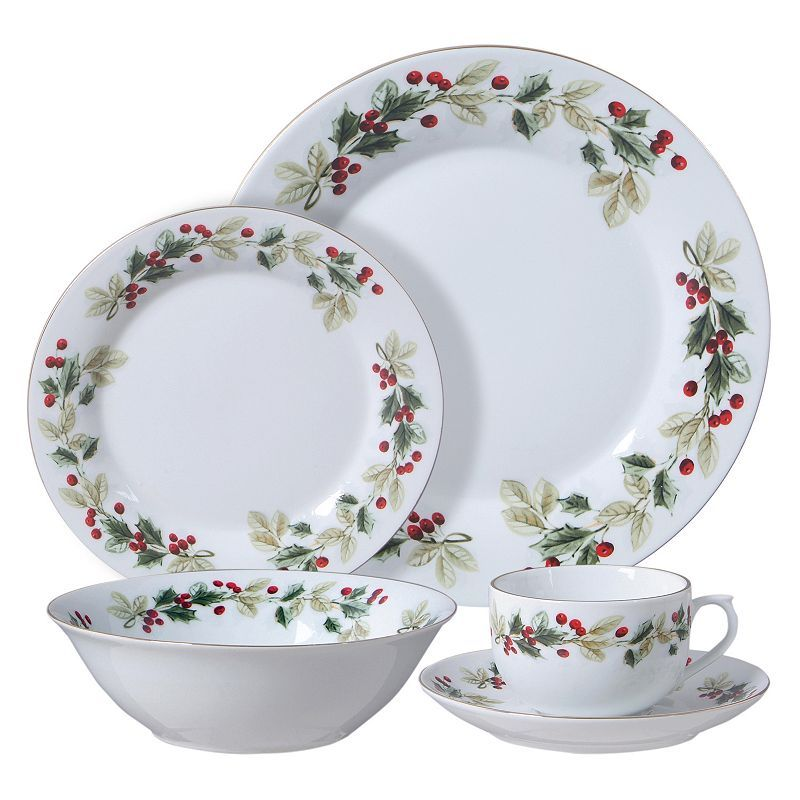Gibson Everyday Holiday Classic 20-pc. Dinnerware Set White  sc 1 st  Pinterest & Gibson Everyday Holiday Classic 20-pc. Dinnerware Set White ...