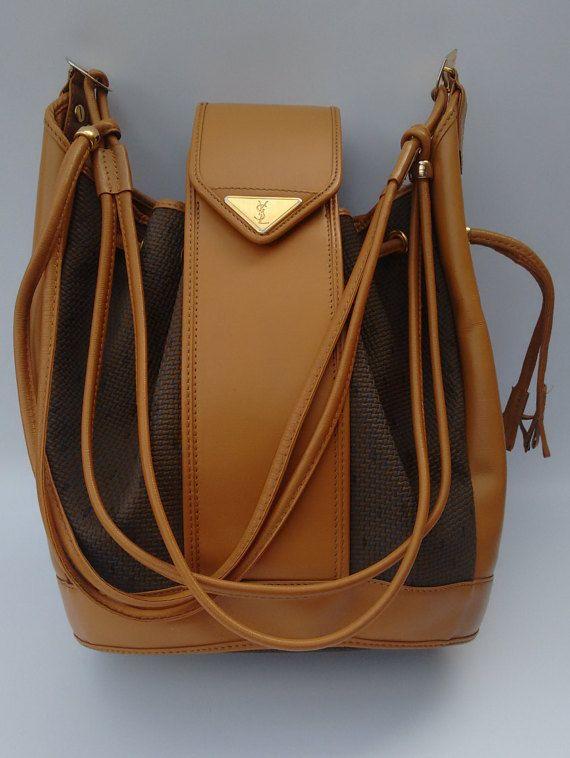 c7de1dfccf YSL Yves Saint Laurent Vintage Tan leather Bucket by Sophiashop123 ...