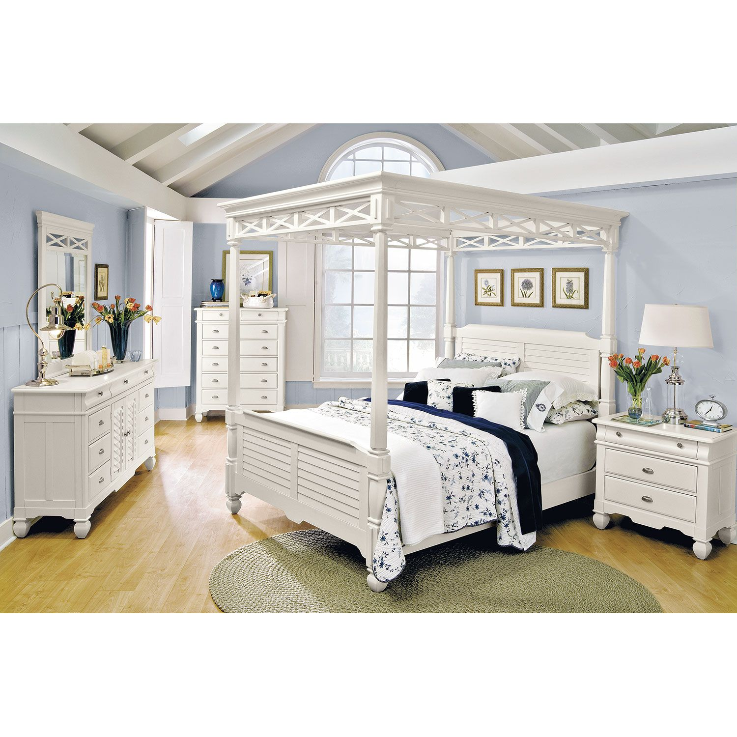 coveted choice. our plantation cove white canopy collection is fresh