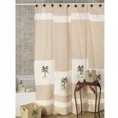 Charmant Palm Tree Bathroom Decor Ideas With Decorative Palm Tree Tropical Shower  Curtain For Palm Tree Bath Sets