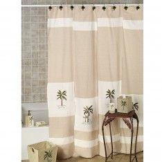 Beautiful Palm Tree Bathroom Decor Ideas With Decorative Palm Tree Tropical Shower  Curtain For Palm Tree Bath