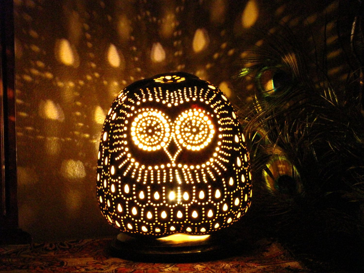 Gourd Lights I Want It And Thats Itgourd Lamps Gourd Lamps Owl Gourd Lamp