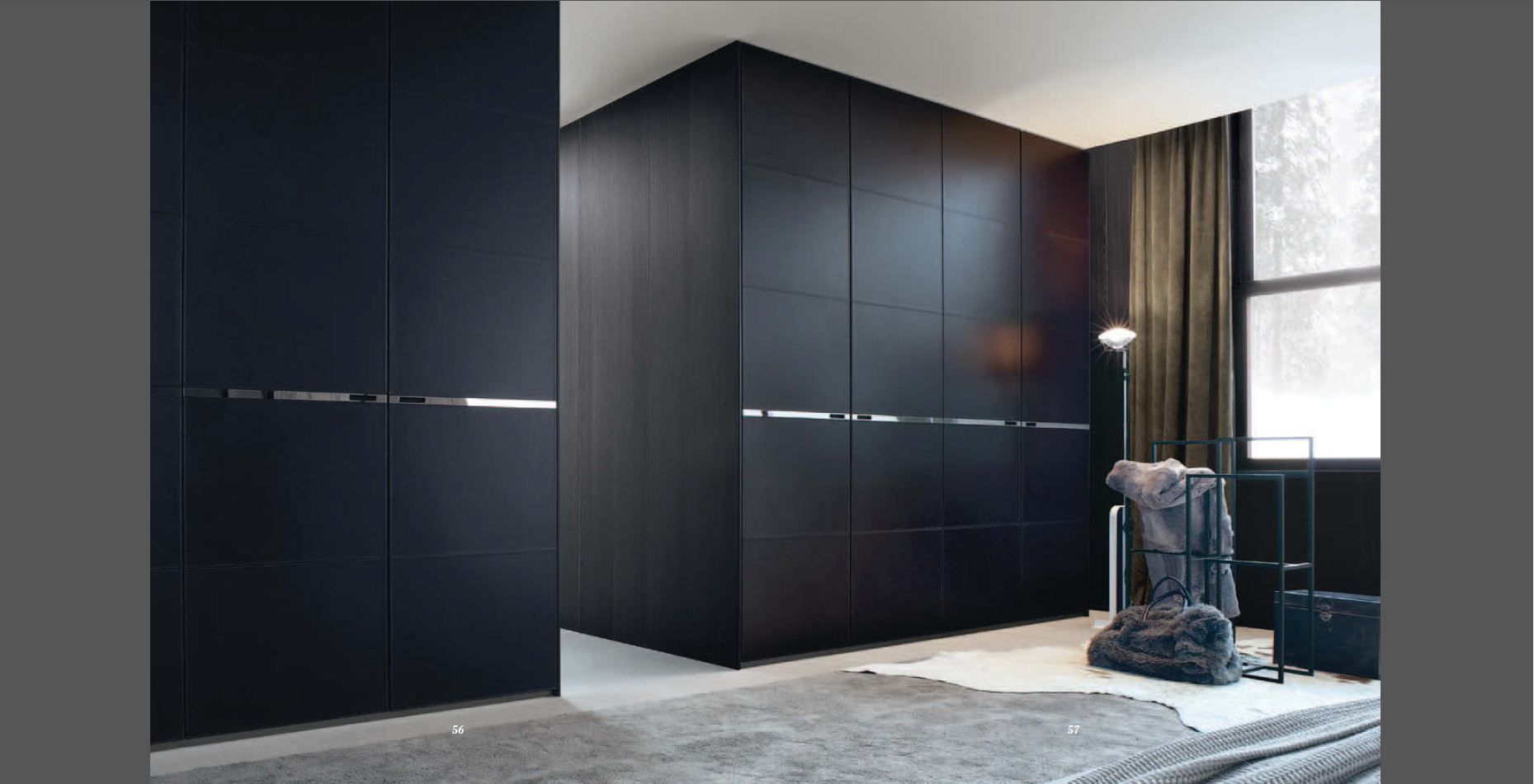 Black Leather Wardrobes Www.poliform.it