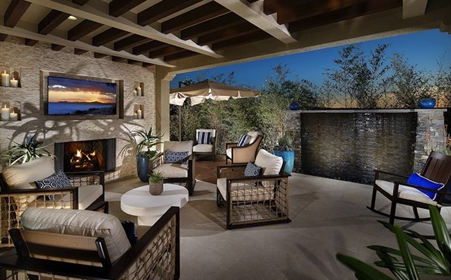 This Outdoor California Room Is Perfect For Entertaining Year Round In The Beautiful Southern Weather Residence 1 At Stratford Del Sur