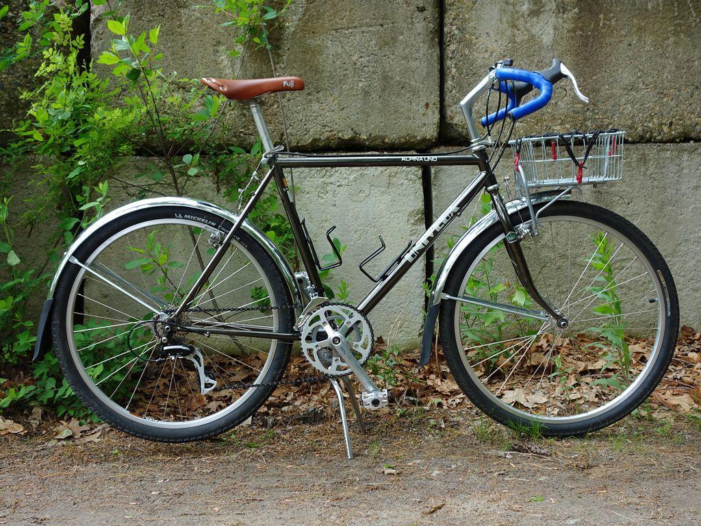 Image Result For Vintage Mtb 650b Drop Bar Conversion Touring Bike Bike Basket Mountain Bike Tour