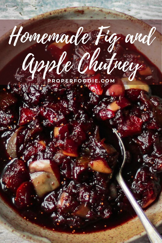 Homemade Fig And Apple Chutney In 2020 Apple Chutney Chutney Recipes Christmas Chutney