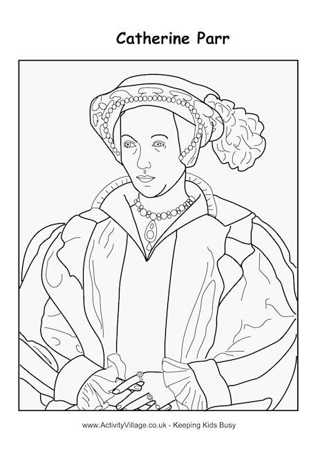 Catherine Parr Colouring Page Oktouse Sca Youth Quiet Tudor Colouring Pages