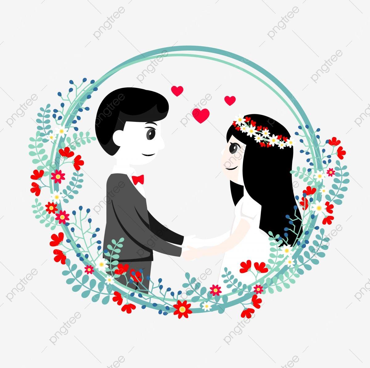 عروس العريس العروس الكرتون العريس الكرتون العروس حب أحمر Png والمتجهات للتحميل مجانا Bride And Groom Cartoon Bride Cartoon Graphic Design Background Templates