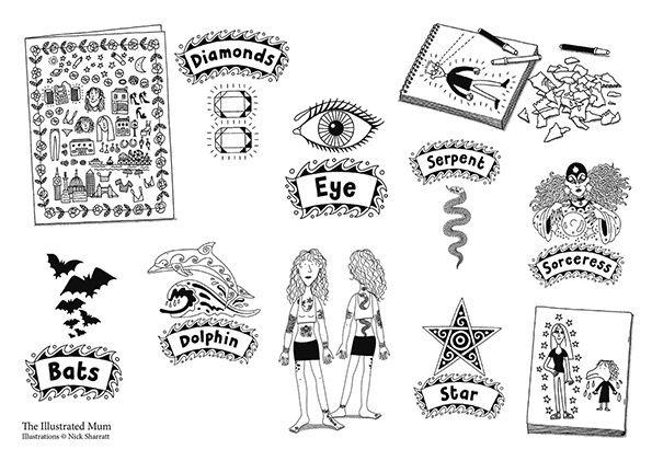 the illustrated mum tattoos - Google Search | Nick Sharratt ...