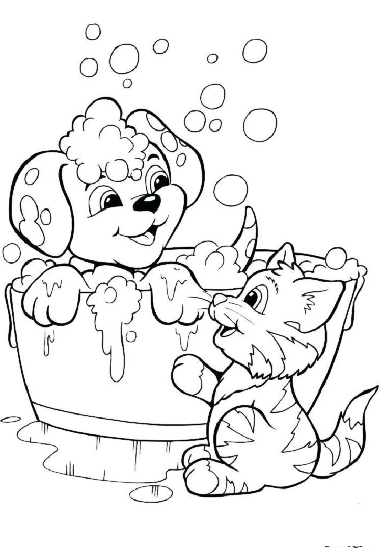 puppy kitten coloring pages | Coloring Pages For Kids | Pinterest