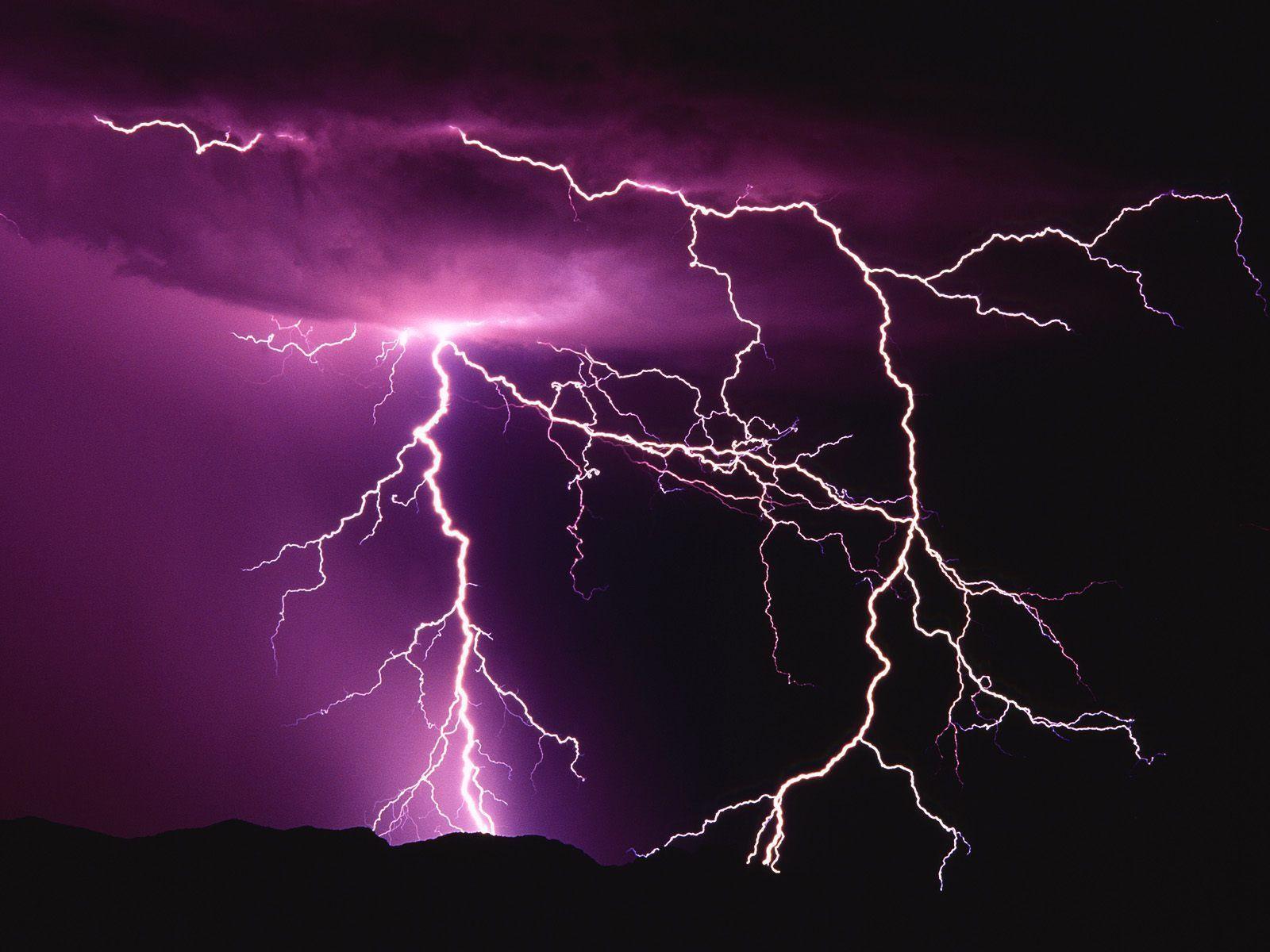 Seizure Purple Lightning Lightning Storm Lightning