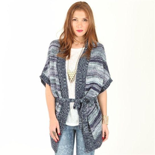 Gilet kimono bleu #Exotic #Mix #Pimkie
