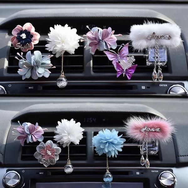 Crystalize Your Ride Rhinestone Car Air Vent Bling Decorations