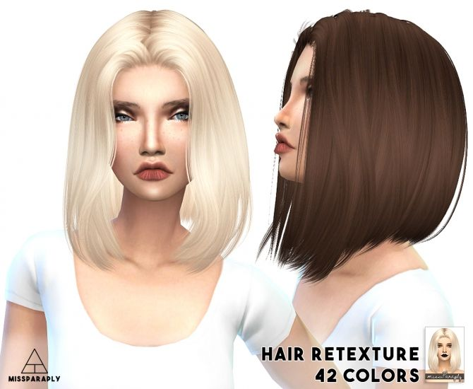 Alesso's hairs solid retextures at Miss Paraply • Sims 4 Updates