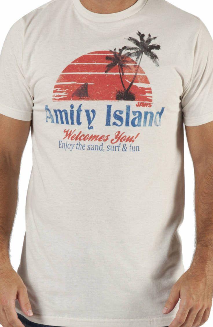 amity island shirt amblin entertainment jaws t shirt. Black Bedroom Furniture Sets. Home Design Ideas