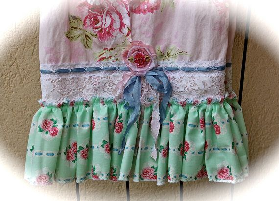 Romantic Boho Bloomers Mixed Florals Ribbon Rose by IzzyRoo, $68.52