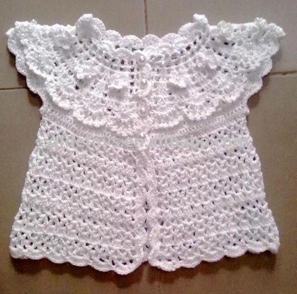 Fotos de vestidos en crochet para bebés - Imagui | Blusinhas de ...