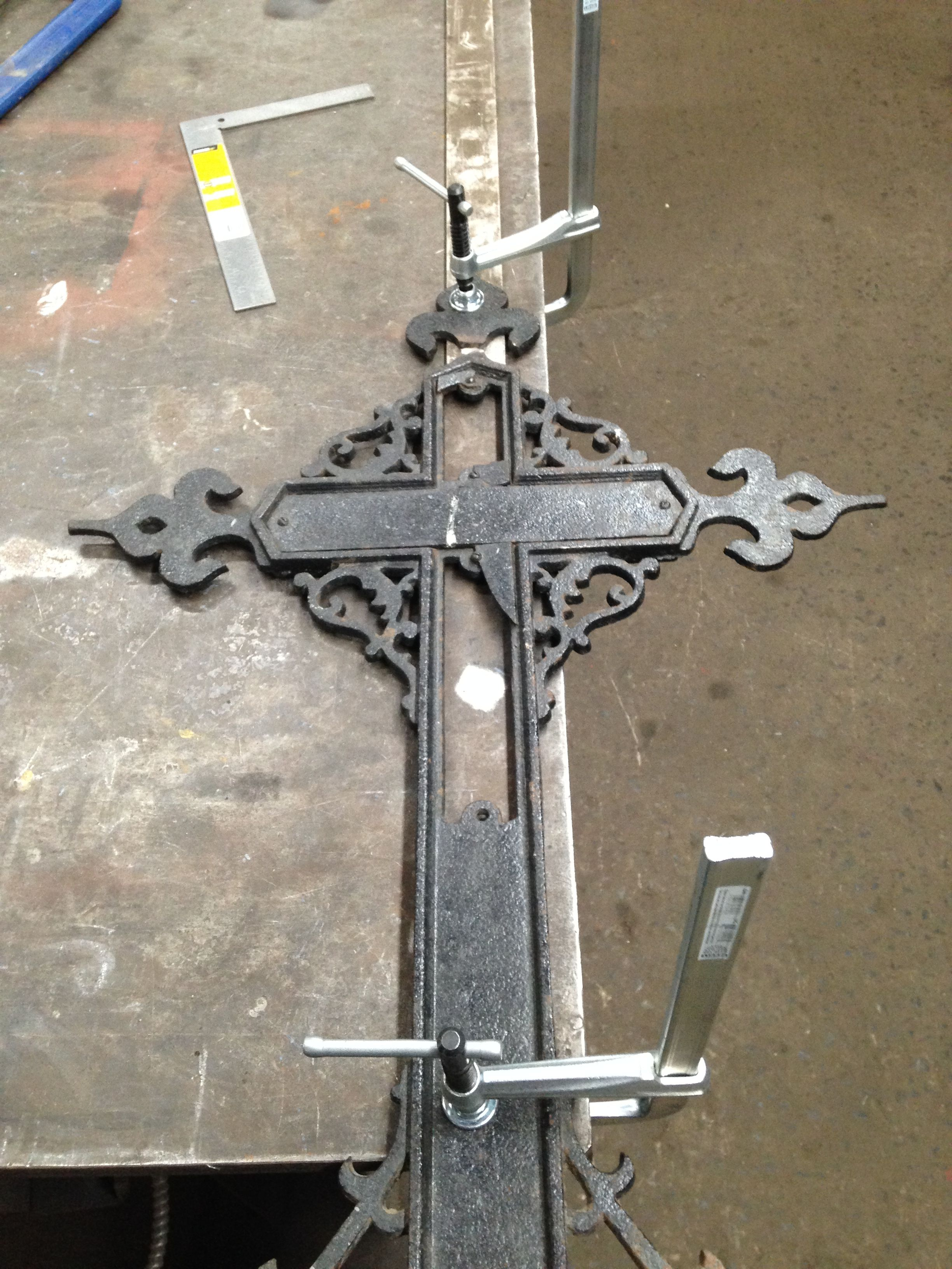 Cast iron welding preparation soudure fonte acier