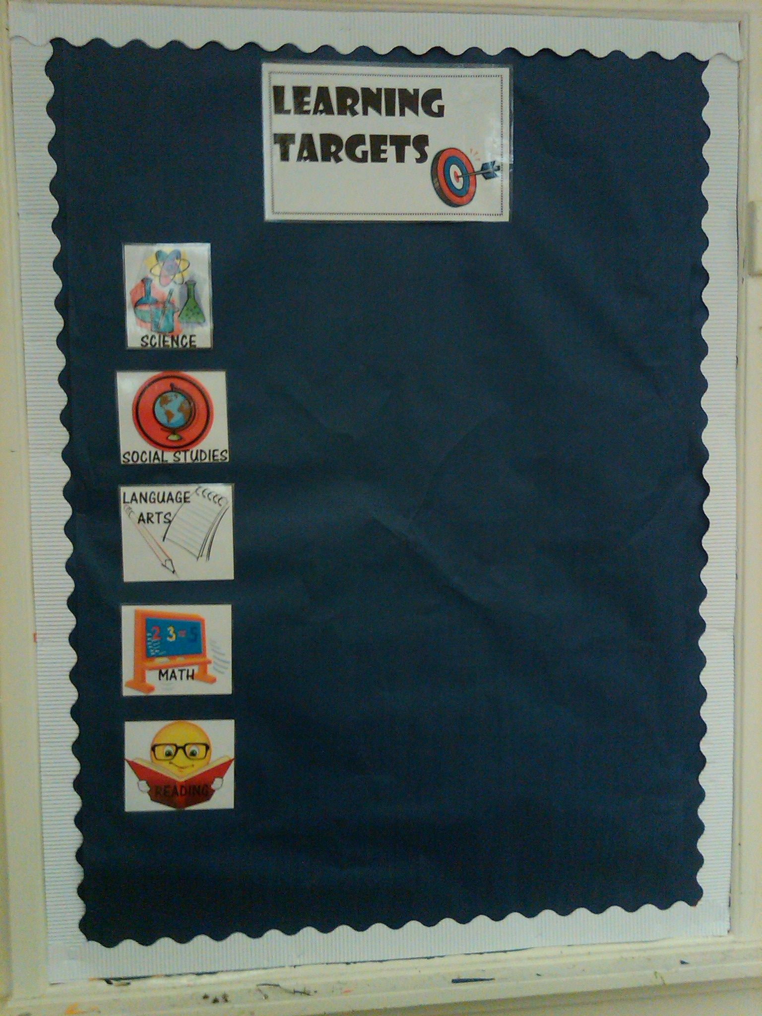 I Did This For My Objectives Bulletin Board