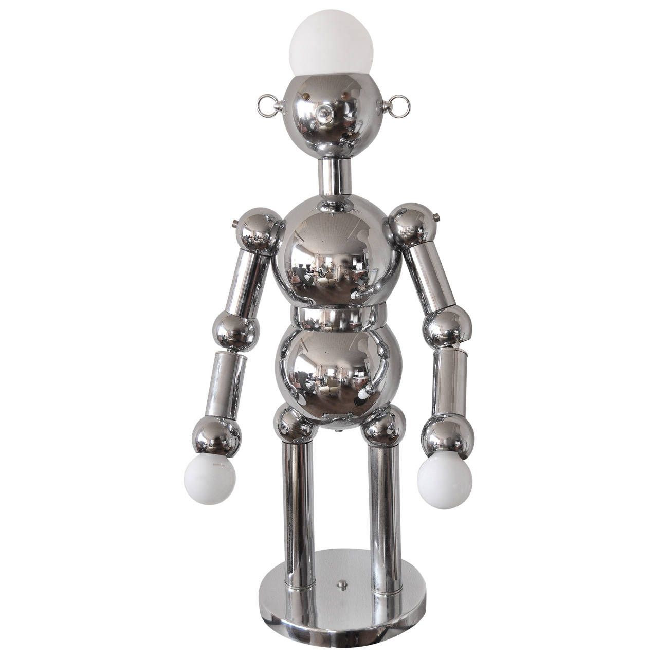 Torino Chrome Robot Lamp Large Size Italy Circa 1960 S From A Unique Collection Of Antique And Modern Tabl Modern Table Lamp Table Lamp Lighting Robot Lamp