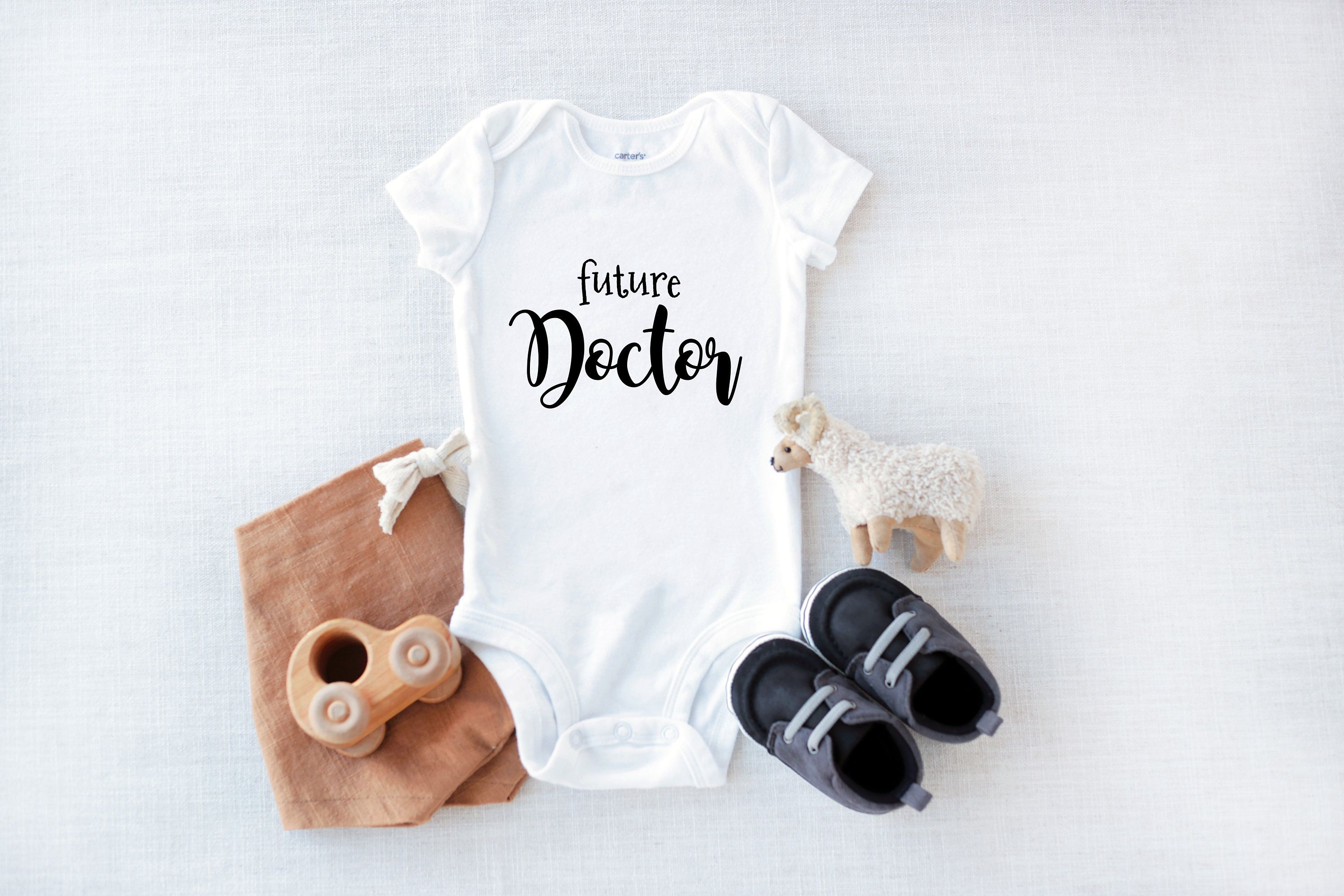 Baby Girl Future Doctor Baby Clothes Bodysuit Funny Baby Clothes Baby Shower Gift Baby Boy Baby Doctor