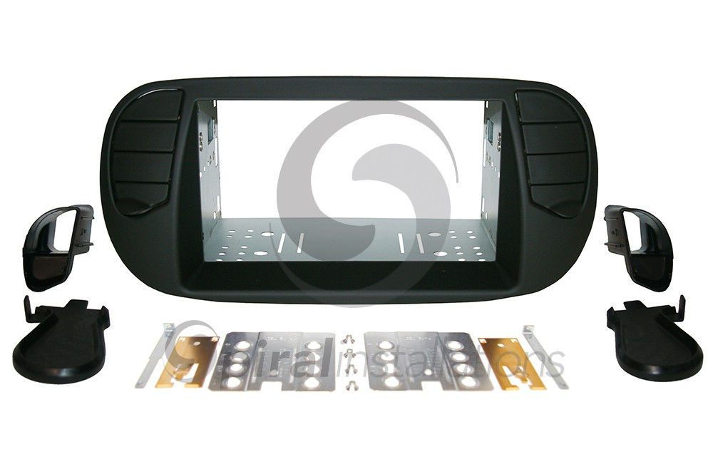 fiat 500 2012 up radio stereo installation dash kit double. Black Bedroom Furniture Sets. Home Design Ideas