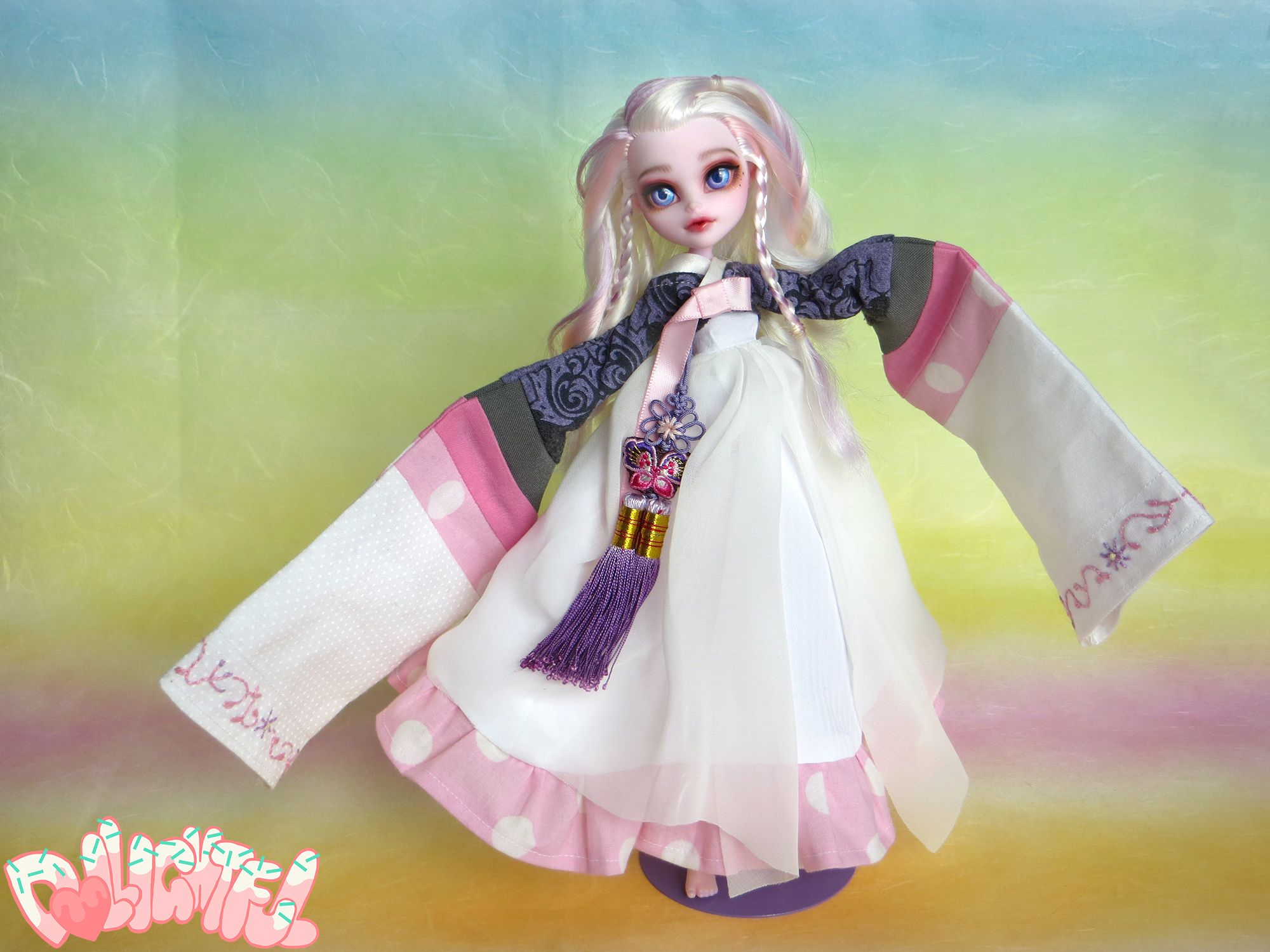Custom OOAK Batsy Claro Monster High Korean Hanbok Doll 인형 리 ...