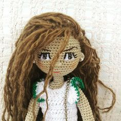 Ветер в волосах The wind is in her hair #handmade #crochet ...