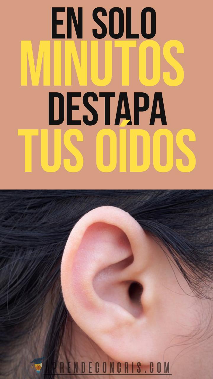 En Solo Minutos Destapa Tus Oídos Oidos Tapados Remedios Productos Para La Salud Cera De Los Oidos