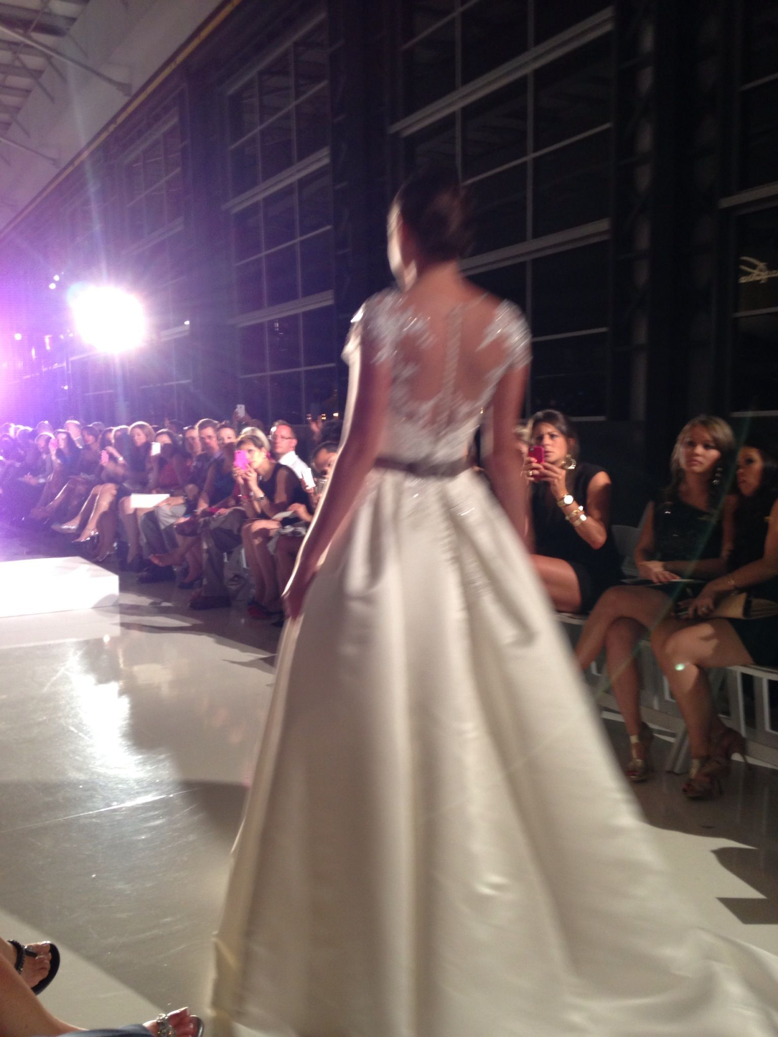 Gorgeous back of Blue by Enzoani 2014