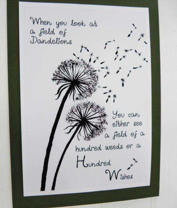 Dandelions A Folksy Friday Blog Dandelion Quotes Dandelion Wish Dandelion